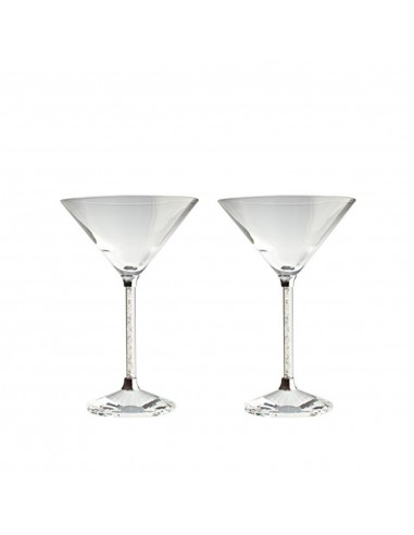 Coupes à Martini Crystal Diamonds -...