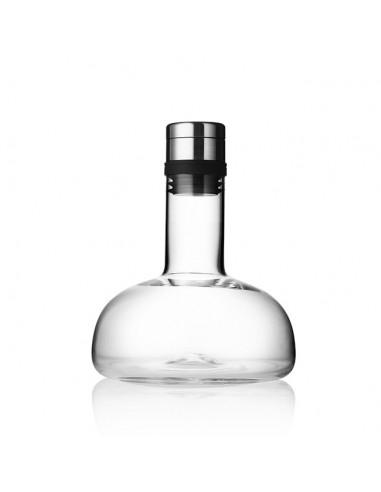 Carafe à vin verre transparent/steel