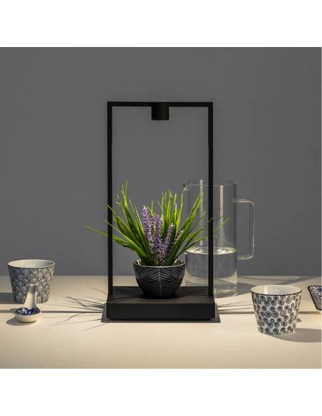 Oscar Home Lampe Curiosity rechargeable nomade artemide luminaire plante verte