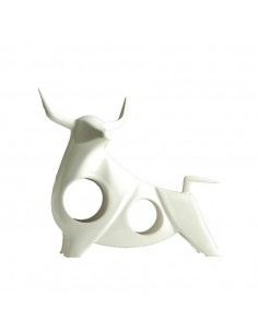 Sculpture TORO blanche -...